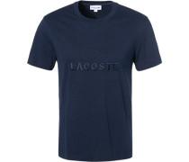 T-Shirt Regular Fit Baumwolle dunkel