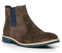 Schuhe Chelsea Boots Finn, Veloursleder, grau
