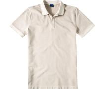 Herren Polo-Shirt Modern Fit Baumwoll-Piqué beige meliert