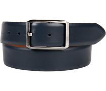 Herren Gürtel blau Breite ca. 3,5 cm