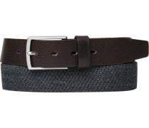 Herren Gürtel grau meliert Breite ca. 3,5 cm