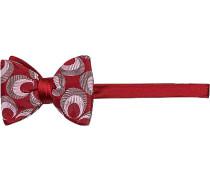 Krawatte Schleife Seide rot