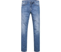 Herren Jeans Modern Fit Baumwoll-Stretch blau