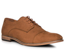 Schuhe Derby Veloursleder cuoio