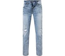 Herren Jeans, Regular Fit, Baumwolle, hellblau
