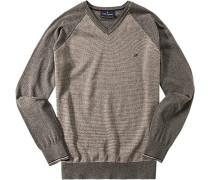 Herren Pullover Baumwolle grau gemustert