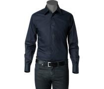 Herren Hemd Stretch-Popeline nachtblau