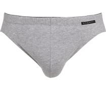 Herren Unterwäsche Slip, Baumwolle, grau meliert