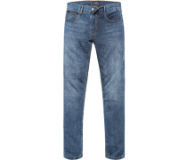 Herren Jeans Baumwoll-Stretch denim blau