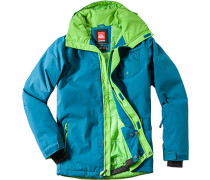 Herren Snowboard-Jacke Regular Fit Funktions-Microfaser petrol grün,grün