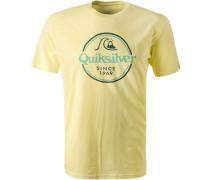 T-Shirt, Regular Fit, Baumwolle, hell