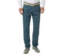 Herren Jeans, Regular Fit, Baumwoll-Stretch, indigo blau