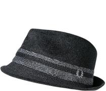 Herren FRED PERRY Hut Wolle anthrazit gemustert grau