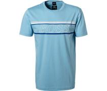 T-Shirt Baumwolle-Mikrofaser himmel