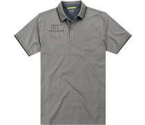Herren Polo-Shirt, Baumwoll-Jersey, grau