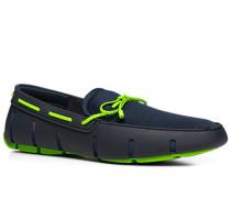 Herren Schuhe Loafer, Mesh-Kautschuk, navy blau