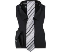 Herren Hemd mit Krawatte schwarz