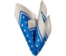 Herren Accessoires Einstecktuch Seide blau gepunktet