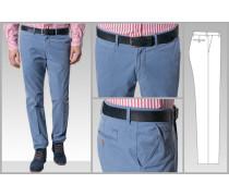 Herren Hose Chino Modern Fit Baumwolle stahl blau