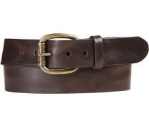 Herren Gürtel dunkel Breite ca. 4 cm