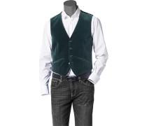 Herren Anzug Samt-Weste Baumwolle dunkelgrün