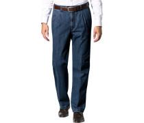 Herren Jeans Baumwoll-Stretch blau