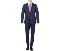 Herren Anzug, Baumwolle halbgefüttert, navy blau