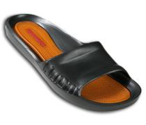 Herren Schuhe BEACH Gummi schwarz-rotorange