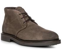 Herren Schuhe Desert-Boots, Veloursleder, taupe grau