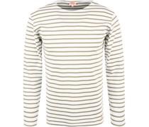 T-Shirt Longsleeve Baumwolle weiß- gestreift