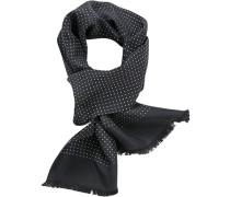 Herren Schal Seide schwarz gepunktet