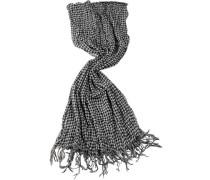 Herren D&S Schal Wolle grau, schwarz kariert grau,schwarz