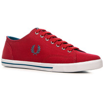 Herren Schuhe Sneaker Canvas dunkelrot