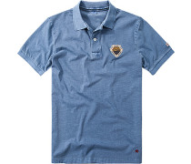 Herren Polo-Shirt Baumwoll-Jersey blau