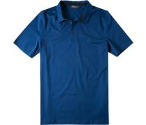Herren Polo-Shirt Baumwoll-Jersey marineblau