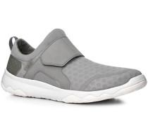 Herren Schuhe Slip Ons, Textil, hellgrau