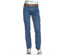 Herren Jeans Regular Slim Fit Baumwoll-Stretch rauch