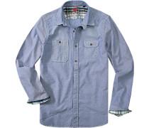 Hemd Regular Fit Oxford jeans meliert