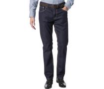 Herren Jeans Modern Fit Denim-Stretch nachtblau