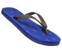 Herren Schuhe Zehensandalen, Gummi, grau-blau