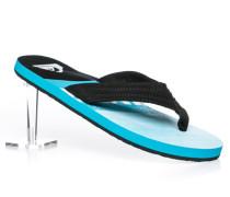 Herren Schuhe Zehensandalen Textil schwarz-azur