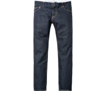 Herren Jeans Regular Fit, Baumwolle 14 oz, indigo blau