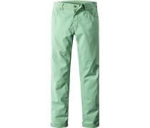 Herren Jeans, Regular Fir, Baumwoll-Stretch, minze grün