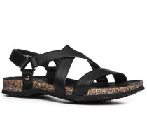 Herren Schuhe Sandalen Nappaleder schwarz schwarz,schwarz