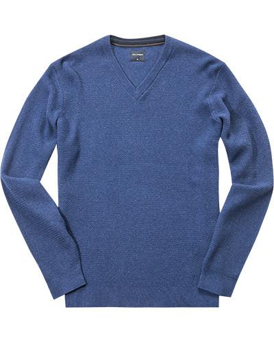 Herren Pullover, Modern Fit, Baumwolle-Wolle, blau