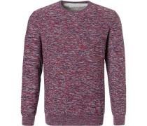 Pullover Baumwolle -grau-blau meliert