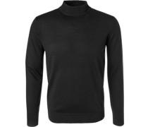 Herren Pullover Merino-Schurwolle schwarz