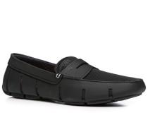 Herren Schuhe Loafer Microfaser wasserabweisend schwarz