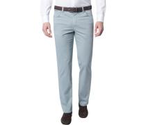 Herren Jeans, Contemporary Fit, Baumwoll-Stretch, graublau meliert