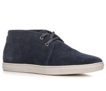 Herren Schuhe Desert Boots, Rindvelours, marineblau